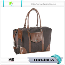 Vintage Brown leather weekender duffle bag for men