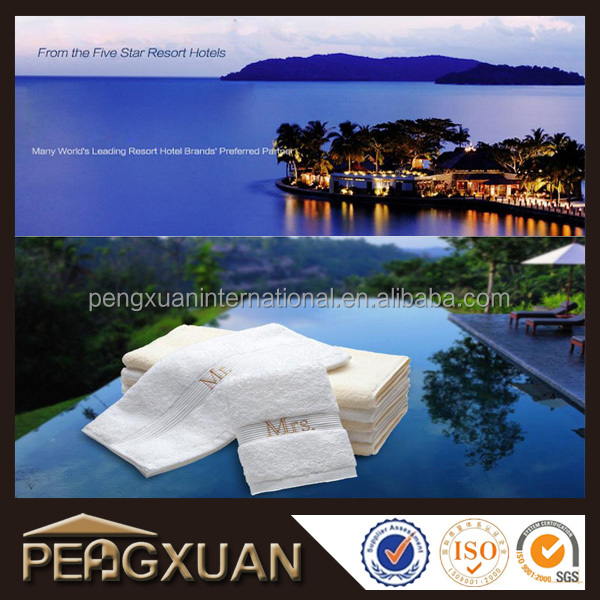 Hotel used cotton face towel/hand towel/bath towel