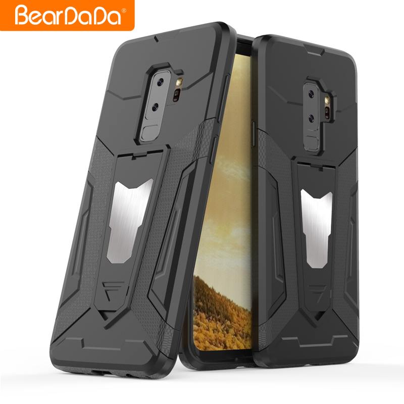 Attractive Appearance tpu pc kickstand mobile case cover for samsung galaxy s9 plus
