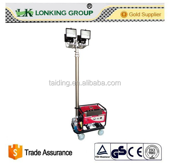 Light tower with diesel/ gasoline generators manufacturer