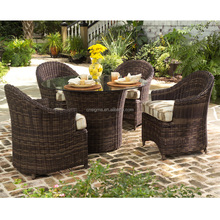2017 Sigma trade assurance all weather plastic resin wicker cheap modern cafe chairs and tables