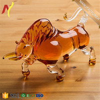 1000ml glass Bull Shaped Decanter Liquor Decanter for Bourbon, Whiskey, Scotch, Rum, Tequila or Any Other Alcohol