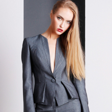 Fancy Grey Ladies Suit Of Tailored Suits For Women