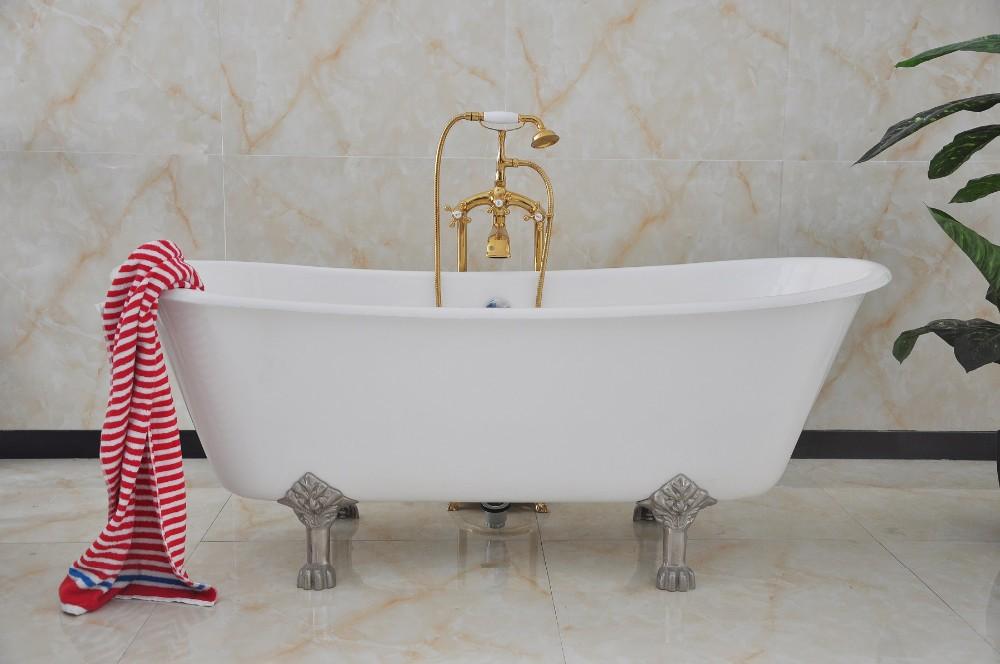 porcelain bathtub freestanding clawfoot cast iron bath tub