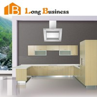 Not formaldehyde bamboo board kitchen cabinet with aluminum frame door