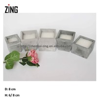 Square glass candle holder (1605MR)