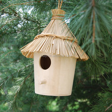 FSC&SA8000 sale Creative 8 cm Wooden cheap Round wicker Bird house ,cage ,nest
