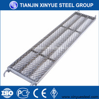 Tianjin Xinyue Cheap Galvanized Scaffolding Steel Plank/Walk Board/ Catwalk/galvanized metal scaffolding steel plank in China