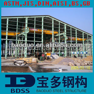 low cost prefabricated two story steel structure warehouse