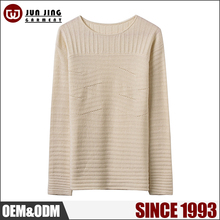 Junjing fashionable loose knit woolen sweater designs for ladies