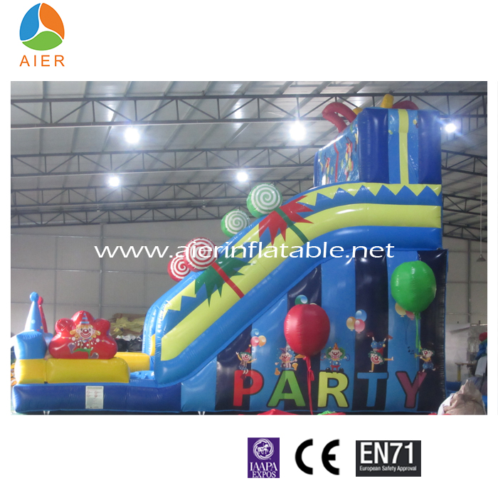 colorful candy party inflatable slide, inflatable water slide game, inflatable slip