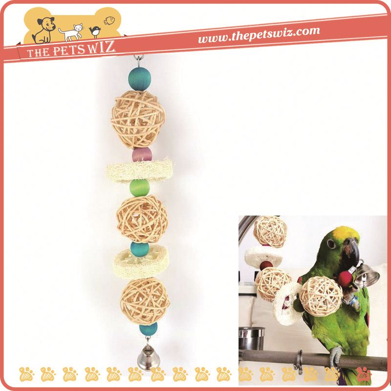 Loofah parrot climbing ladder , p0wm7 hanging loofah parrot pet bird chewing toys for sale