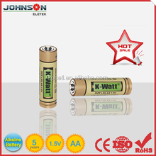 Super alkaline LR6 AA AM3 Zn/MnO2 Battery from Yuyao