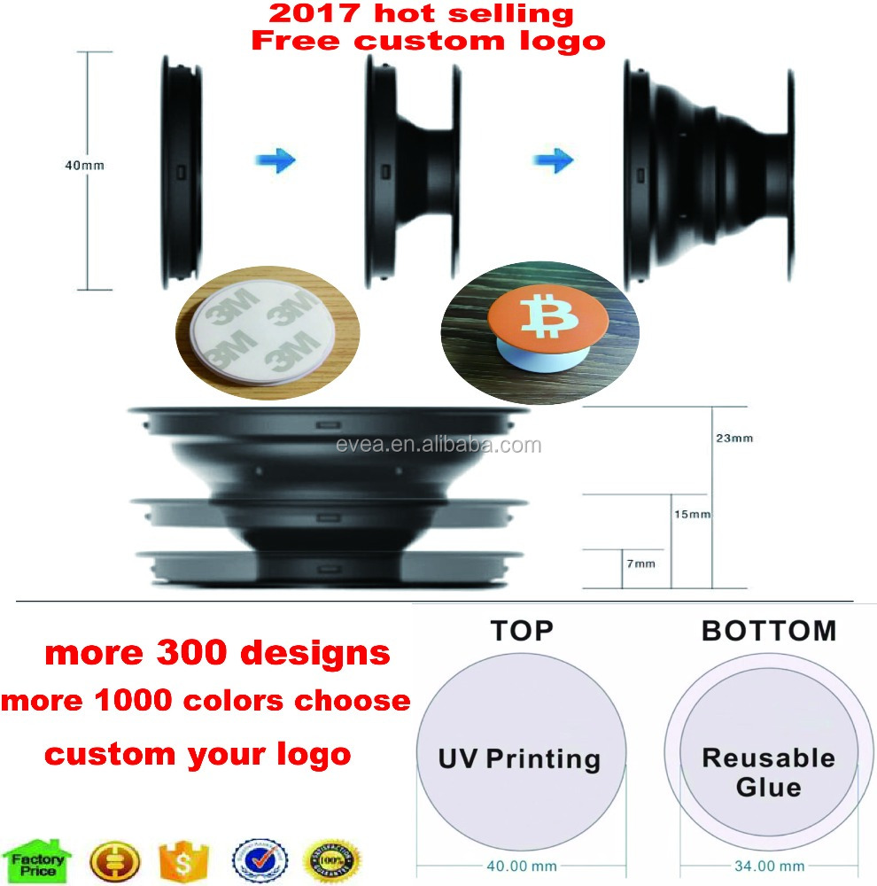 wholesale pop smartphones socket;expanding pop mobile phone holder socket and grip cell phone holder with custom logo