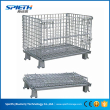 metal wire mesh container/heavy duty warehouse storage cages with wheel for sale