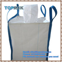 1 ton jumbo bag tote bag with cross loops and spouts