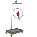 Stainless Steel Functional Parrot Play Stand Playgyms More Birds' Stands