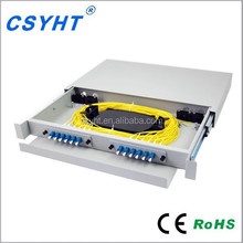 24 core LC adapter slidable type rackmount fiber optic patch panel