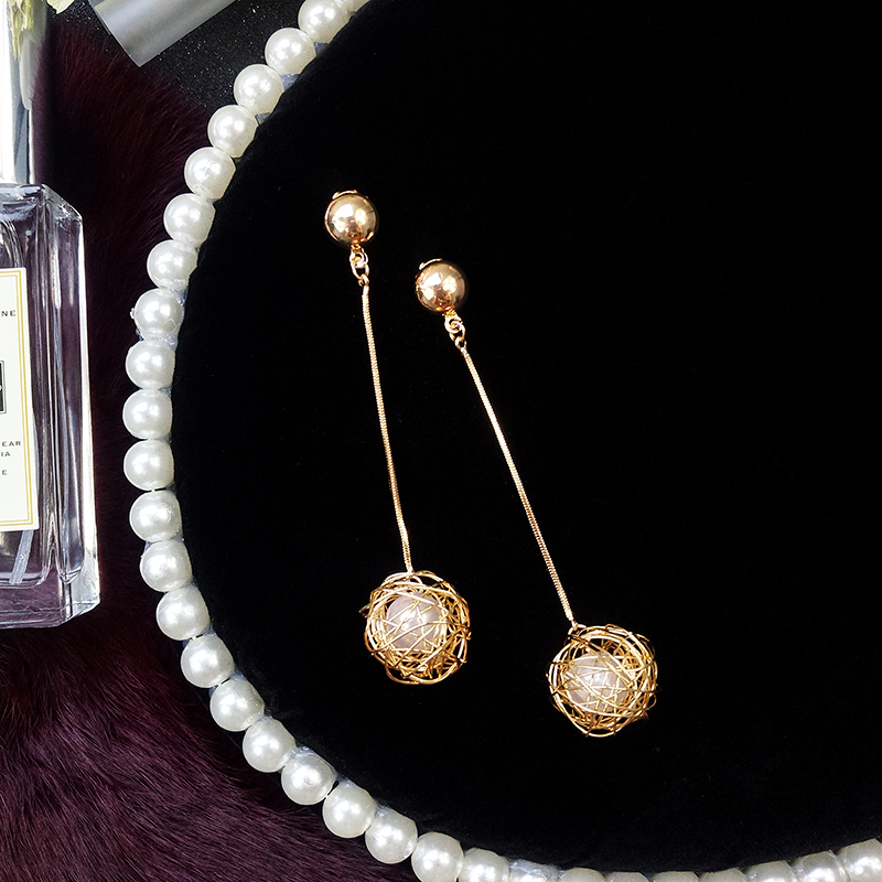 Jewelry Manufacturer China Dangle Gold Double Disk Earrings For Women
