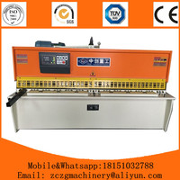 ZCZG brand NC hydraulic mild alloy plate shears machine with competitive price