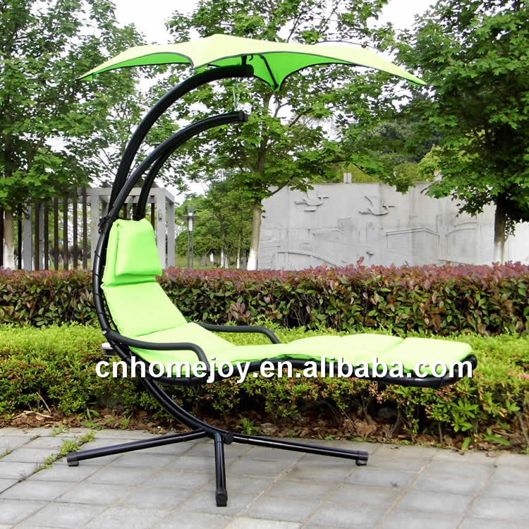 Outdoor swing hanging chair with stand
