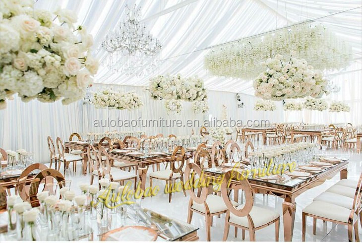 2016 High Quality Modern Style Wedding Glass Dining Table