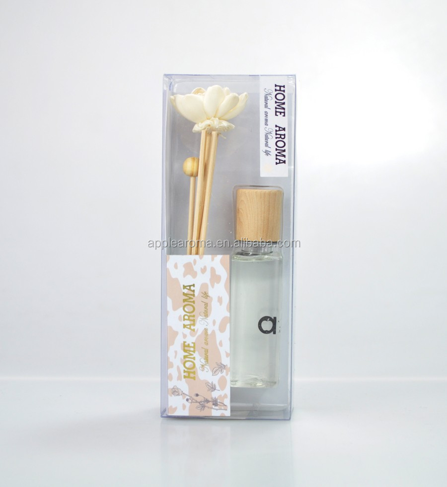 wooden diffuser Bedroom diffuser scents 70ml scented reed diffuser customized/sola flower