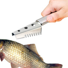 Stainless Steel Practical Kitchen Cutter Clean The fish Scales Knife Scales Scraping Seafood Tool