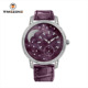 Latest best products geneva genuine leather strap setting diamond quartz ladies watches