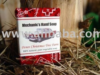 Mechanic's Pumice and Orange Hand Soap Bar 100% All Natural Handmade Soap