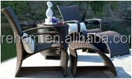 hotel furniture black rattan beach sun lounger