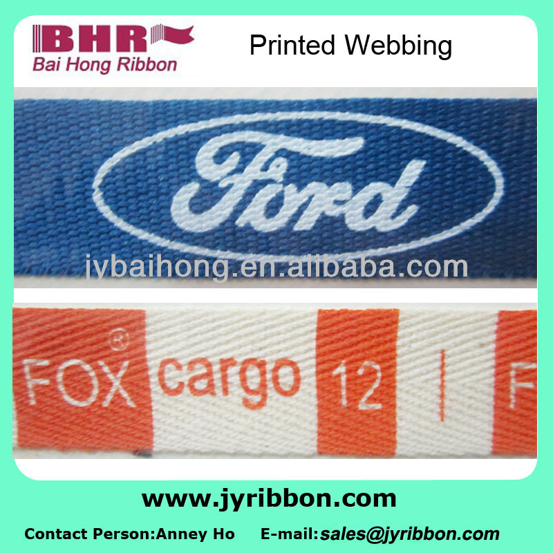 Washable printed polyester webbing for hang tag/swing tag