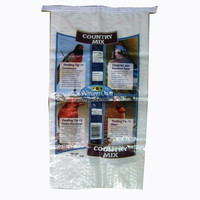 Bottom gusset Plastic laminated pet feed bag with top resealable