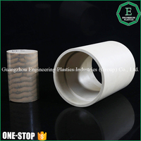 OEM engineering plastic molded products cnc machined plastic TECHTRON PPS bushing sleeve