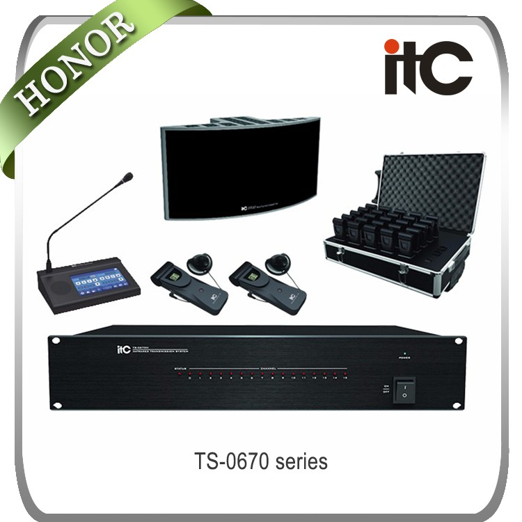 ITC 16 channel unit IR wireless simultaneous conference interpretation system