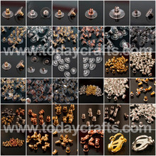 Jewellery Fittings for Earring Back Studs with many sizes and colors
