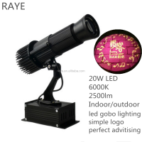 sign logo projector in mall 2500 lumens small size black color light