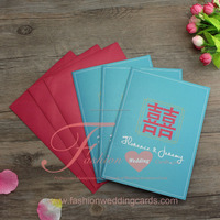 Custom Chinese Red Wedding Invitation Card