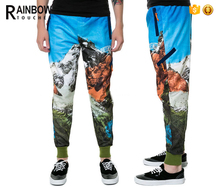 High Quality Fashion Colored 3d Printed Custom Jogger Sweatpants
