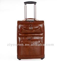leather trolley luggage