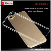High quality and free sample thin and transparent design your own cell phone case hard pc case/for iphone 7