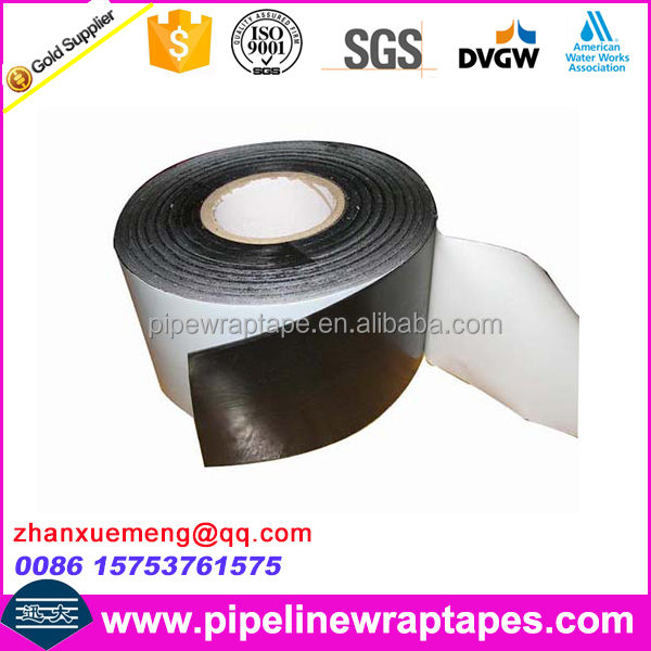 Double sided butyl tape with rubber adhesive