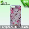 Sublimation Plastic case for iPhone 5S,with metal inserrt