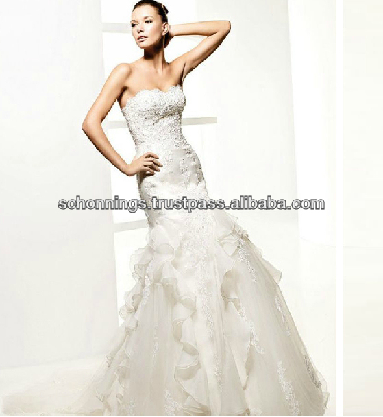 Ivory Sweetheart Lace Applique Bodice Tulle Ball Gown tulle Wedding Dress