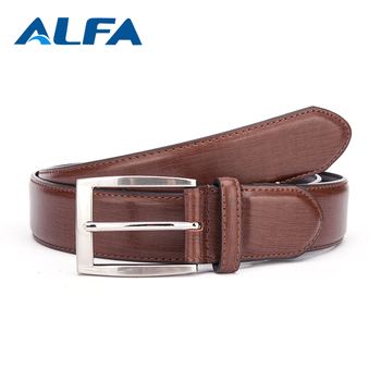 Alfa Super September Purchasing Promotional Custom Logo Printed Classic Men Pu Belt
