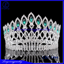 2017 New Fashion Golden Plating Crysal Wedding Crown/tiara For Bride