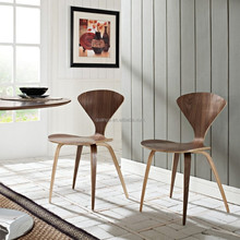 fancy norman cherner side chair, ergonomic plywood chair, dining chair