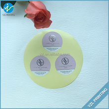 Full color printed round dot paper label sticker