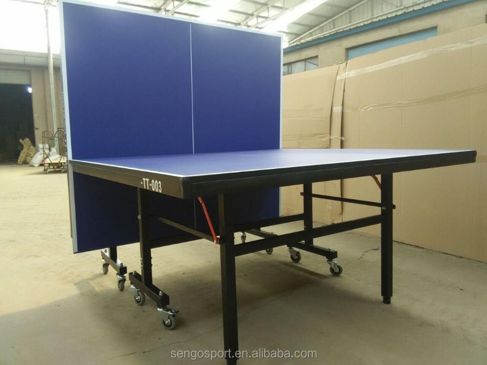 Doble plegable muebles interior al aire libre tenis de mesa ping pong mesas de ping pong - Mesa ping pong plegable ...
