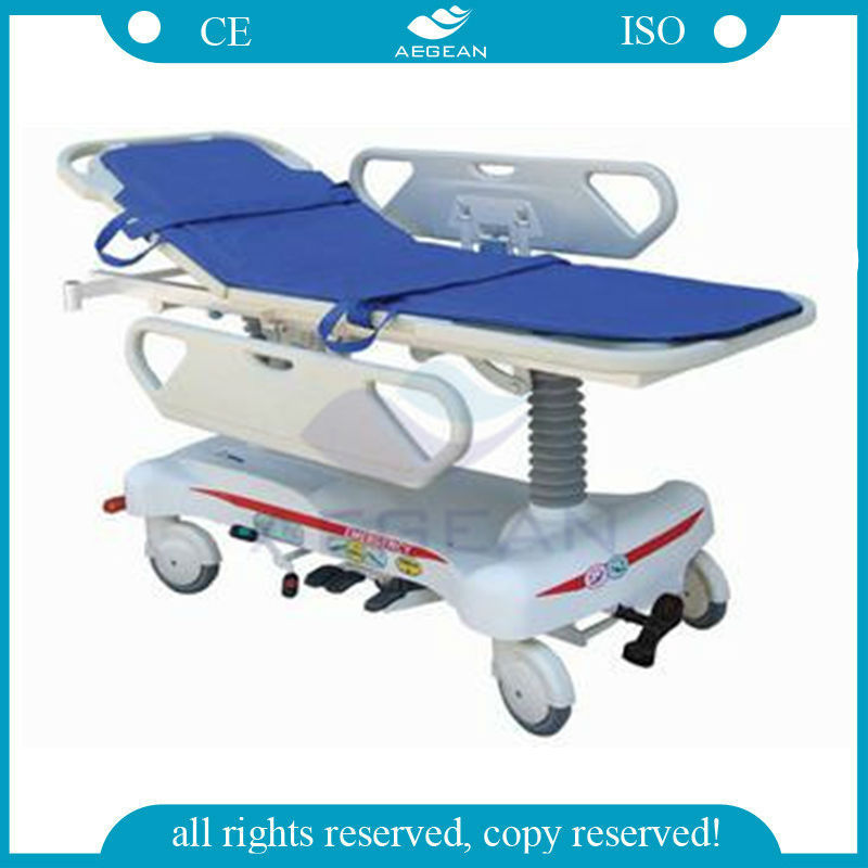 AG-HS010 Emergency hospital patient transport delivery hydraulic ABS bedboard portable stretchers